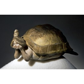 Продается старинная шкатулка из фарфора в подарок - Черепашка - дева
