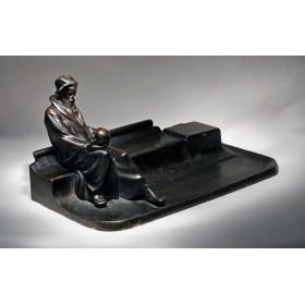Старинный чернильный прибор Раздумье, уникальная коллекция антиквариата