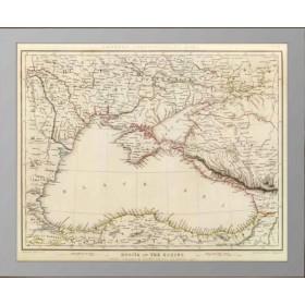 Старинная карта Россия на Черном море - в подарок и в интерьер