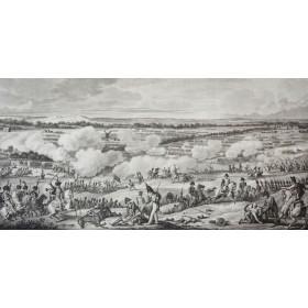 Антикварная гравюра для подарка - Сражение при Ватерлоо 18 июня 1815 г.
