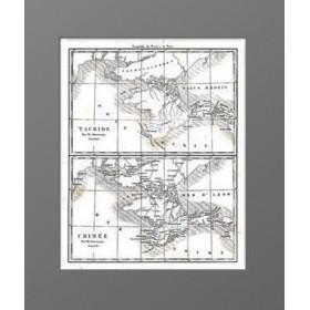 Антикварная двойная карта Крыма XIX века и античного. 1838г.
