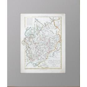 Старинная Карта ЕВРОПЕЙСКАЯ ЧАСТЬ РОССИЙСКОЙ ИМПЕРИИ 1781 г.
