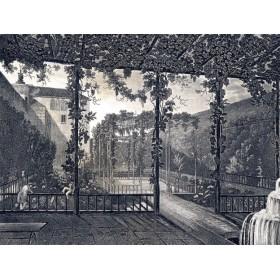 Продается старинная гравюра 1840 г. Крым. Сады Бахчисарая
