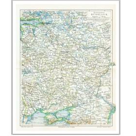 Карта Mittleres Rusland -Европейская Россия. От Петербурга до Крыма