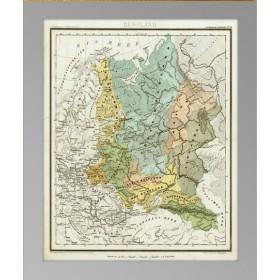 Купить в подарок старинную карту европейской части Российской Империи. 1853 года издательство Вестерманна