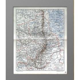 Антикварная карта Урала 1905 г., купить старинные вещи
