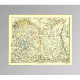 Северо-запад Российской империи на антикварной карте 19 века, купить старинную карту