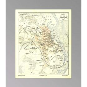 Киев - антикварный план города 1903 года, купить старинную карту