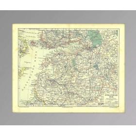 Российские территории на Балтике, 1896, Ленинградская область, Прибалтика, Финляндия