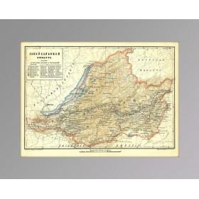 Забайкальская область, Чита, Старинная карта 1896 года, старинные вещи в подарок