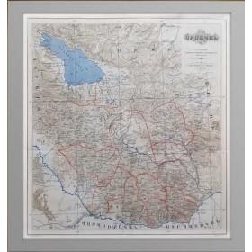 Армения. Регион Сюник (Սիսական). 1893 г., старинные карты в интерьер