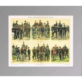 Униформа егерей, стрелков, разведчиков и военных железнодорожников