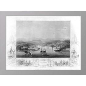 Севастополь на старинной гравюре 1855 г., виды и карты Крыма