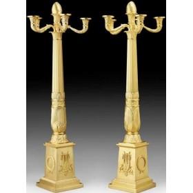 Антикварные бронзовые канделябры в стиле Ампир