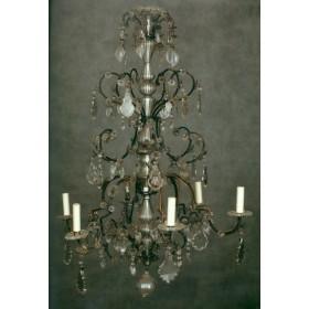 Антикварная хрустальная люстра Раннее рококо Франция