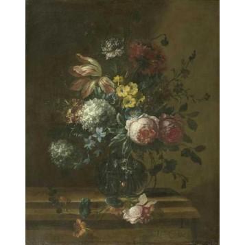 Старинный натюрморт с цветами Питер Кастлз