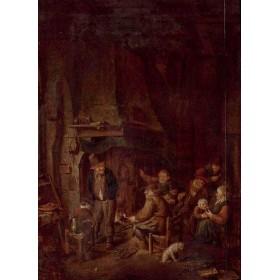 Антикварная голландская живопись мастерская Андриана Ван Остаде