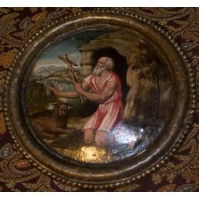 Антикварная итальянская живопись XVI века Святой Иероним