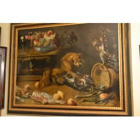 Фламанская живопись Франс Снайдерс Frans Snyders  Антикварная картина
