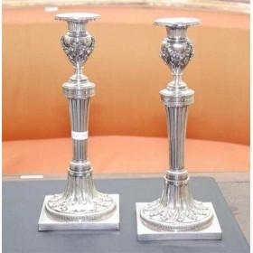 Антикварные серебряные подсвечники, старинное серебро