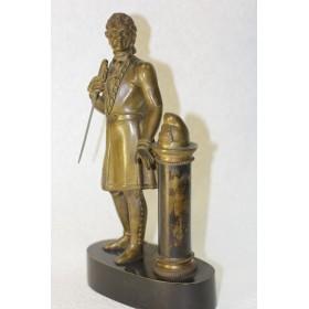 Антикварная бронзовая скульптура Тадеуш Костюшко скульптор М.Ольшанский