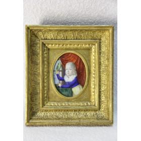 Старинная миниатюра Антикварная живопись