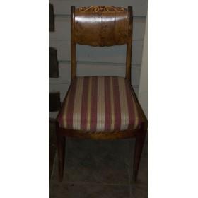 Антикварные стулья русский ампир. Волнистая береза