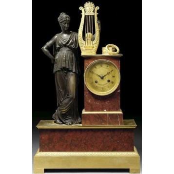 Старинные каминные часы Калипсо