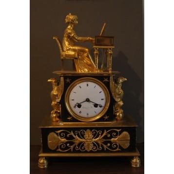 Старинные каминные часы Франция Bollognier et Fils. a Parice
