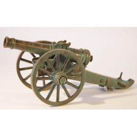 Антикварная модель пушки, Россия, старинная бронза