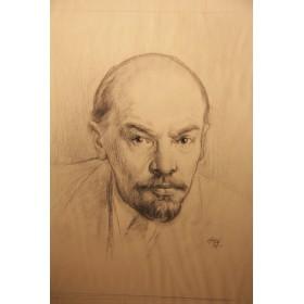 Рисунок В. Ленин художник Николай Николаевич Жуков Соц реализм