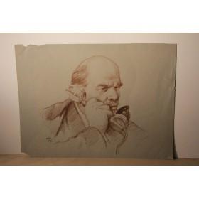 Рисунок В. Ленин говорит художник Николай Николаевич Жуков Соц реализм
