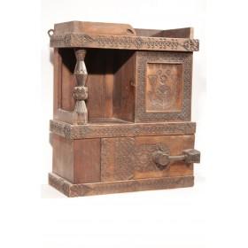 Старинный русский шкафчик с колонкой Абрамцево по проекту  Е.Д. Поленовой