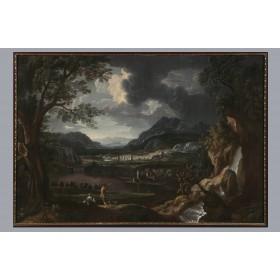 Старинная живопись, антикварная картина, Художник  фон Беммель Иоганн Георг