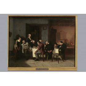 Старинная русская живопись, антикварная картина, Художник Риццони Павел Антонович