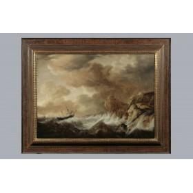 Антикварная голландская живопись, старинная картина Художник Симон де Влигер