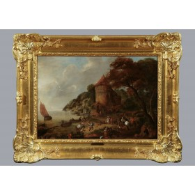 Антикварная живопись Фландрии, старинная картина Ян Брейгель Младший