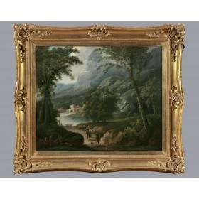 Антикварная английская живопись, старинная картина Художник Джеймс Рассел