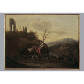 Антикварная живопись Фландрии, старинная картина художник Николас Берхем