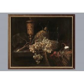 Антикварная фламанская живопись, старинная картина Питер Герритс Ван Ростратен