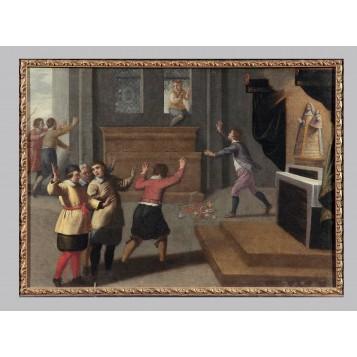 Живопись старых мастеров, антикварная картина Художник Матеус Ван Хельмонт, Фландрия