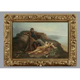 Антикварная живопись, старинная картина, художник Теодор Ралли