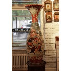Парные вазы Кутани, фарфор Кутани, Япония, период Мейдзи
