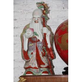 Антикварные китайские фарфоровые статуэтки Бессмертные