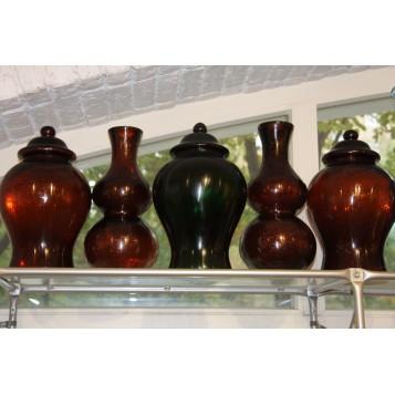Старинное бейджинское стекло Китайские антикварные вазы