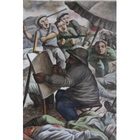Советская живопись Громан Дмитрий Семенович Художник на войне