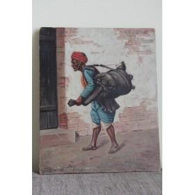 Антикварная картина, старинная живопись Водонос