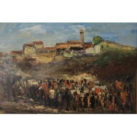Антикварная западно-европейская  живопись F.Nomeier Toskana