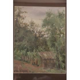 Советское искусство, художник Л. Бродская - Пейзаж