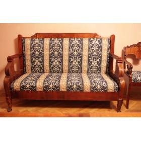 Старинный русский диван - скамья Ампир